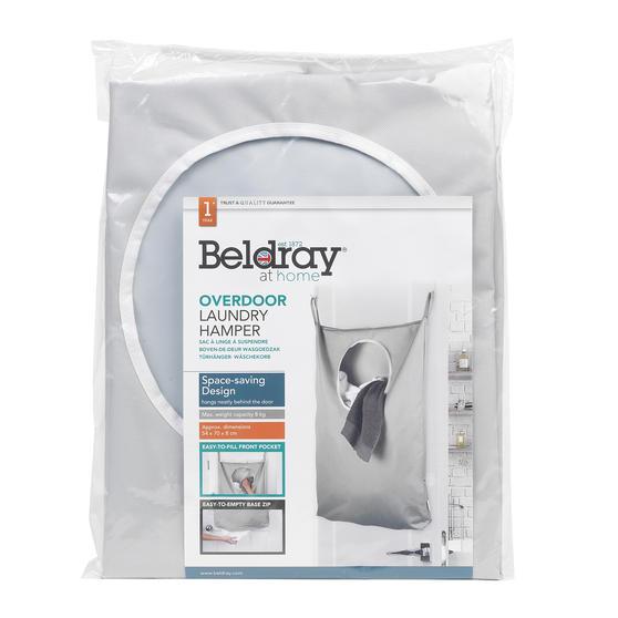 Beldray Overdoor Laundry Hamper, Grey Main Image 6
