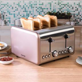 Salter EK3352CHAMPAGNE Metallics Polaris 4-Slice Toaster, 1500W, Champagne Edition Thumbnail 2