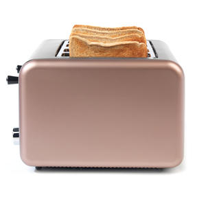 Salter EK3352CHAMPAGNE Metallics Polaris 4-Slice Toaster, 1500W, Champagne Edition Thumbnail 4
