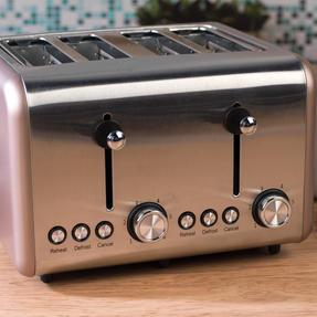 Salter EK3352CHAMPAGNE Metallics Polaris 4-Slice Toaster, 1500W, Champagne Edition Thumbnail 5
