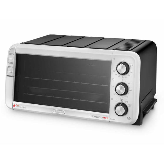 DeLonghi EO12562 Sfornatutto Electric Mini Oven, 1400 W, Black/Grey