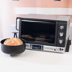 DeLonghi EOB20712 Pangourmet Digital Electric Oven and Bread Maker, 20 L, 1400 W, Silver/Black Thumbnail 6