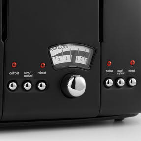 DeLonghi CTO4BK Argento Four Slice Toaster, 1600 W, Stainless Steel, Black Thumbnail 5