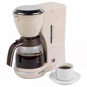 DeLonghi ICMOV210BG Icona Vintage Drip Coffee Machine, 1.25 L, 1000 W, Beige Thumbnail 1