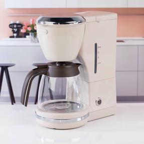 DeLonghi ICMOV210BG Icona Vintage Drip Coffee Machine, 1.25 L, 1000 W, Beige Thumbnail 2