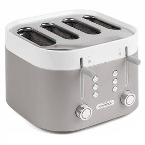 Kenwood TFM400TT K-Sense Four-Slice Toaster, 2000 W, Stainless Steel, Silver/White Thumbnail 2