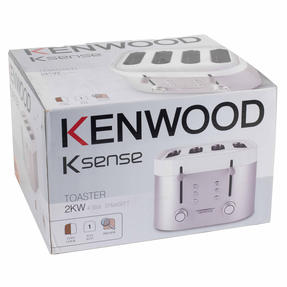 Kenwood TFM400TT K-Sense Four-Slice Toaster, 2000 W, Stainless Steel, Silver/White Thumbnail 11