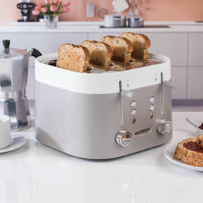 Kenwood TFM400TT K-Sense Four-Slice Toaster, 2000 W, Stainless Steel, Silver/White Thumbnail 3