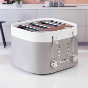 Kenwood TFM400TT K-Sense Four-Slice Toaster, 2000 W, Stainless Steel, Silver/White Thumbnail 4