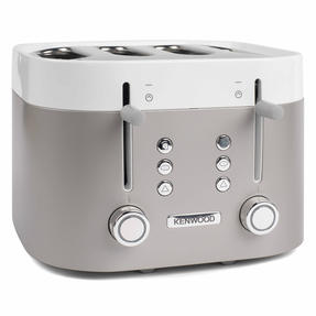 Kenwood TFM400TT K-Sense Four-Slice Toaster, 2000 W, Stainless Steel, Silver/White Thumbnail 5