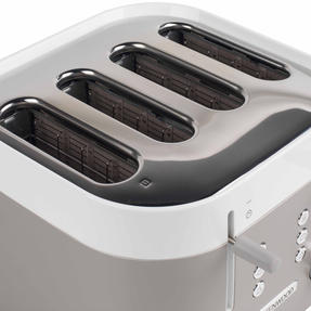 Kenwood TFM400TT K-Sense Four-Slice Toaster, 2000 W, Stainless Steel, Silver/White Thumbnail 6