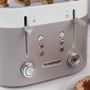 Kenwood TFM400TT K-Sense Four-Slice Toaster, 2000 W, Stainless Steel, Silver/White Thumbnail 8