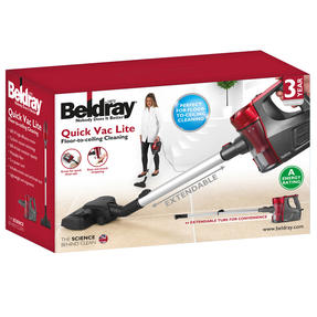 Beldray BEL0769N 2-In-1 Quick Vac Lite Multi-Surface Vacuum Cleaner, 0.6 L, 600 W, Graphite/Red Thumbnail 4
