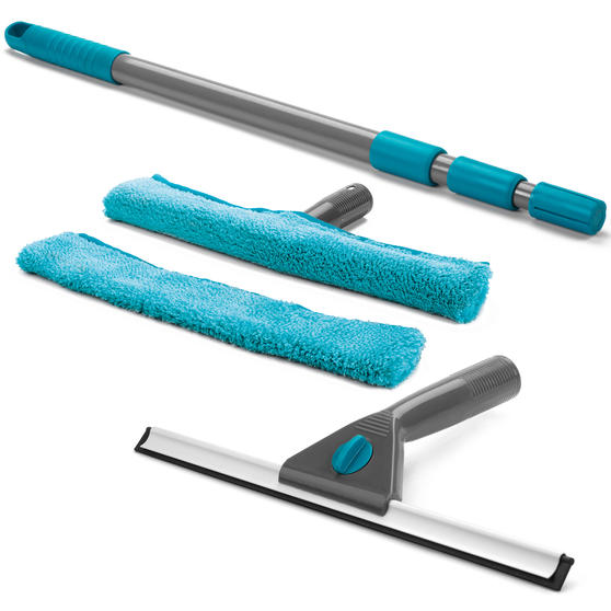 Beldray Window Vacuum Cleaner and Window Cleaning Set with 4 Microfibre Cloths Thumbnail 8
