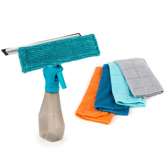 Beldray COMBO-3978 Spray Window Cleaner with Four Microfibre Cloths