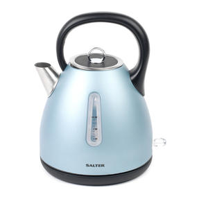 Salter Metallics Polaris Dome Kettle and 2-Slice Toaster Set, Pearl Blue Edition Thumbnail 2