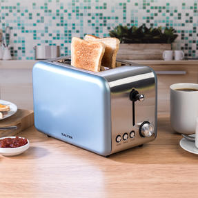 Salter COMBO-3649 Metallics Polaris Dome Kettle and 2-Slice Toaster Set, Pearl Blue Edition Thumbnail 5