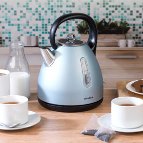 Salter COMBO-3649 Metallics Polaris Dome Kettle and 2-Slice Toaster Set, Pearl Blue Edition Thumbnail 6