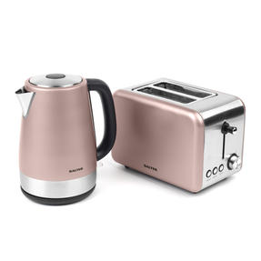 Salter Metallics Polaris Jug Kettle and 2-Slice Toaster Set, Champagne Edition Thumbnail 1