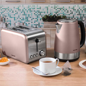 Salter COMBO-3650 Metallics Polaris Jug Kettle and 2-Slice Toaster Set, Champagne Edition Thumbnail 2