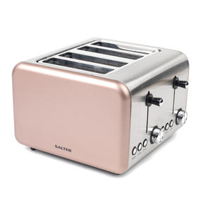 Salter Metallics Polaris Jug Kettle and 4-Slice Toaster Set, Champagne Edition Thumbnail 3