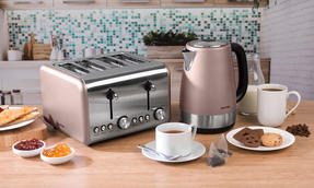 Salter COMBO-3652 Metallics Polaris Jug Kettle and 4-Slice Toaster Set, Champagne Edition Thumbnail 6