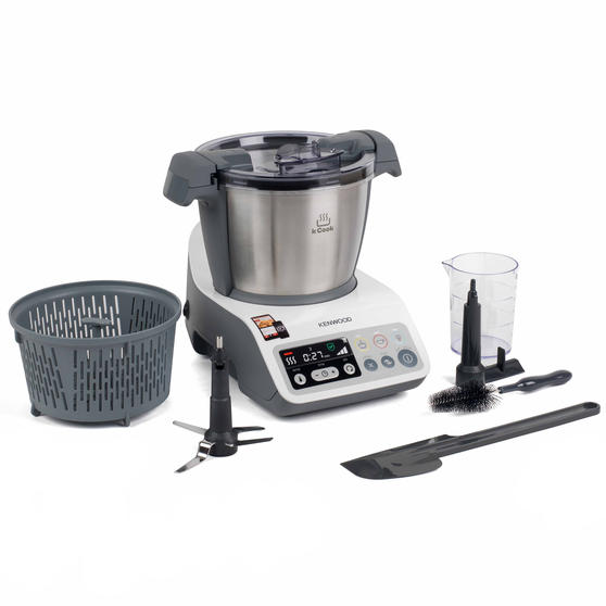 Kenwood CCC200 kCook Cooking Food Processor, 1.5 L, 800 W, White/Grey