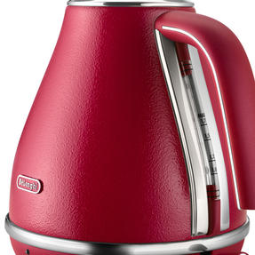 DeLonghi KBOE3001R Icona Elements Kettle, 1.7 L, 3000 W, Stainless Steel, Red Thumbnail 2