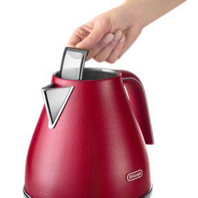 DeLonghi KBOE3001R Icona Elements Kettle, 1.7 L, 3000 W, Stainless Steel, Red Thumbnail 4