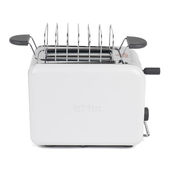 Kenwood TTM020A KMIX Two-Slice Toaster, 900 W, Stainless Steel, Coconut White