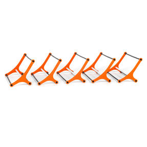Gorilla Training 70390 Sports Agility Hurdles with Adjustable Heights, Pack of 5 Thumbnail 6