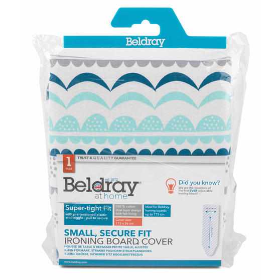 Beldray Small Reversible Ironing Board Replacement Cover, 126 x 47 cm, Zola Teal Thumbnail 3
