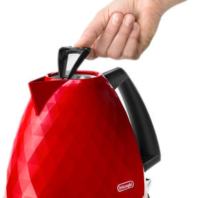 DeLonghi KBJ3001R Brilliante Kettle, 1.7 L, 2000 W, Plastic, Red Thumbnail 2
