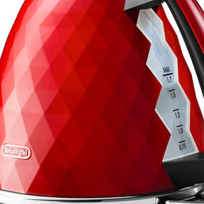DeLonghi KBJ3001R Brilliante Kettle, 1.7 L, 2000 W, Plastic, Red Thumbnail 3