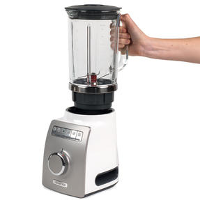 Kenwood BLM800 Blend-X Pro Variable Speed Electric Blender, 1.6 L, 1400 W, White/Grey Thumbnail 1