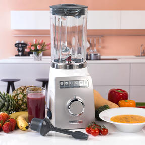 Kenwood BLM800 Blend-X Pro Variable Speed Electric Blender, 1.6 L, 1400 W, White/Grey Thumbnail 2