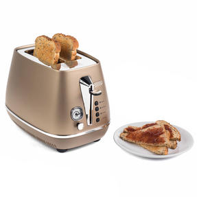DeLonghi CTI2003BZ Distinta Two-Slice Toaster, 900 W, Stainless Steel, Metallic Bronze Thumbnail 1
