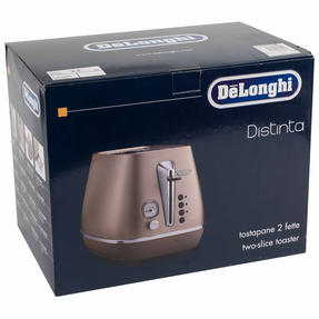 DeLonghi CTI2003BZ Distinta Two-Slice Toaster, 900 W, Stainless Steel, Metallic Bronze Thumbnail 11