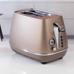 DeLonghi CTI2003BZ Distinta Two-Slice Toaster, 900 W, Stainless Steel, Metallic Bronze Thumbnail 6