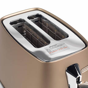 DeLonghi CTI2003BZ Distinta Two-Slice Toaster, 900 W, Stainless Steel, Metallic Bronze Thumbnail 8