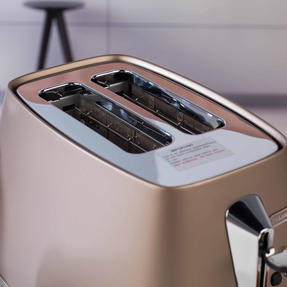 DeLonghi CTI2003BZ Distinta Two-Slice Toaster, 900 W, Stainless Steel, Metallic Bronze Thumbnail 9