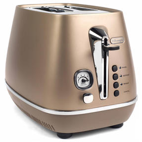 DeLonghi CTI2003BZ Distinta Two-Slice Toaster, 900 W, Stainless Steel, Metallic Bronze Thumbnail 2
