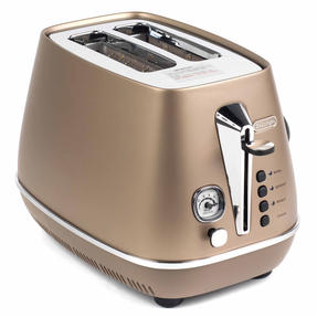 DeLonghi CTI2003BZ Distinta Two-Slice Toaster, 900 W, Stainless Steel, Metallic Bronze Thumbnail 4
