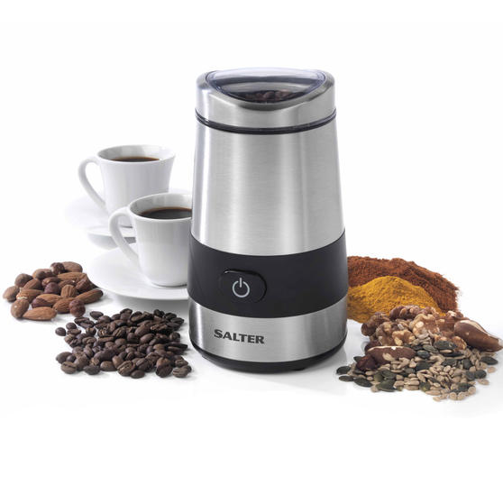 Salter EK2311 Electric Coffee and Spice Grinder, 60 g, 200 W, Stainless Steel