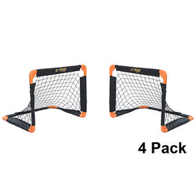 Gorilla Training COMBO-4048 Metal Pop-Up Football Goals, 55 x 43 cm, Black/Orange, Pack of 4