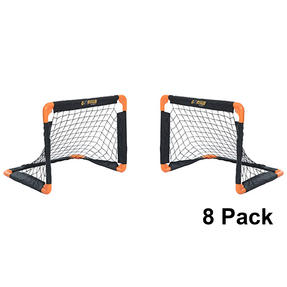 Gorilla Training COMBO-4049 Metal Pop-Up Football Goals, 55 x 43 cm, Black/Orange, Pack of 8