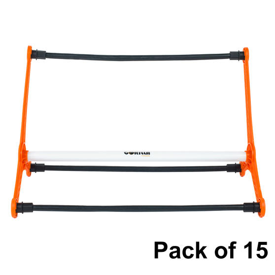 Gorilla Training COMBO-4058 Sports Agility Hurdles with Adjustable Heights, Pack of 15