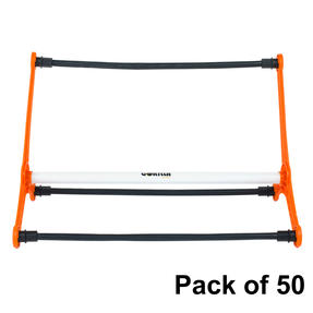 Gorilla Training COMBO-4060 Sports Agility Hurdles with Adjustable Heights, Pack of 50