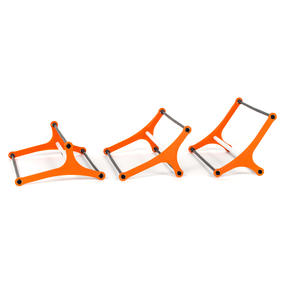 Gorilla Training COMBO-4060 Sports Agility Hurdles with Adjustable Heights, Pack of 50 Thumbnail 6