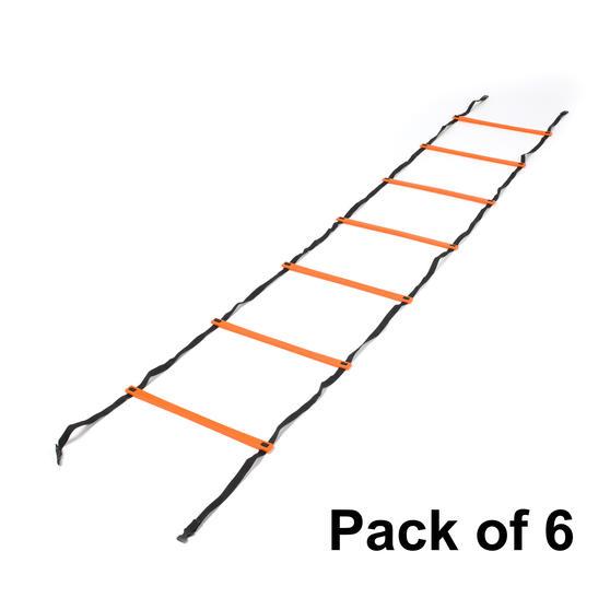 Gorilla Training COMBO-4061 Three Metre Speed Ladder, Pack of 6